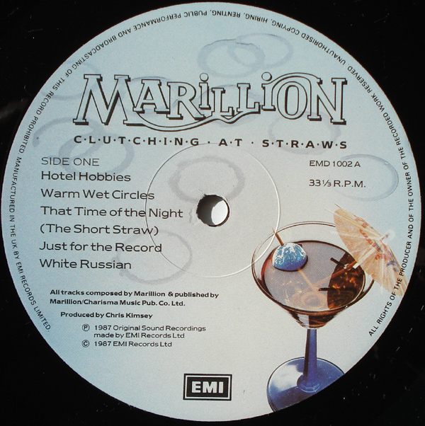 Marillion - Clutching At Straws LP Label Side 1.jpeg