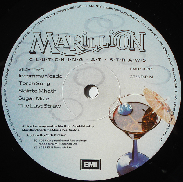 Marillion - Clutching At Straws LP Label Side 2.jpeg
